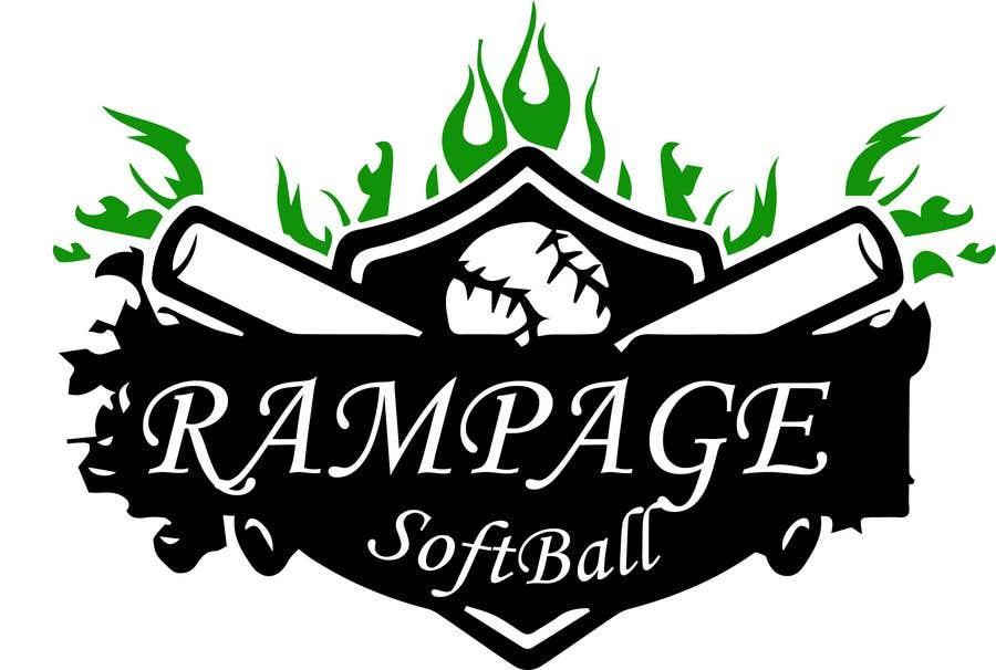 Penyertaan Peraduan #5 untuk Softball Team Logo