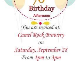 #17 для 70th birthday invite від FatemaDhirani
