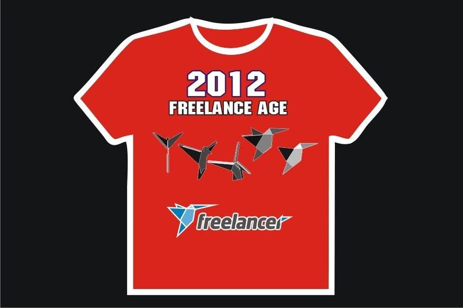 Zgłoszenie konkursowe o numerze #1528 do konkursu o nazwie Need Ideas and Concepts for Geeky Freelancer.com T-Shirt