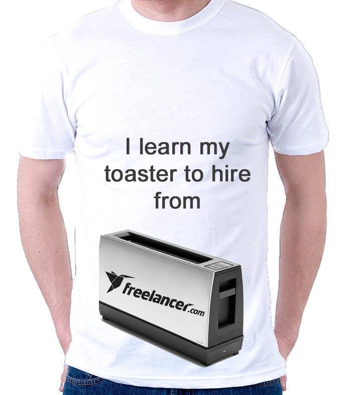 Zgłoszenie konkursowe o numerze #1458 do konkursu o nazwie Need Ideas and Concepts for Geeky Freelancer.com T-Shirt