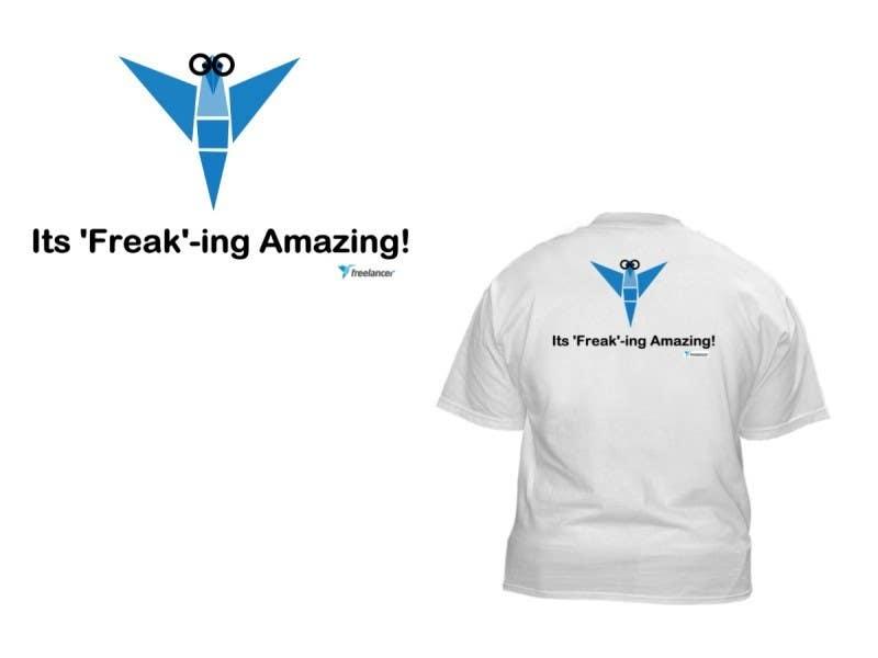 Zgłoszenie konkursowe o numerze #1532 do konkursu o nazwie Need Ideas and Concepts for Geeky Freelancer.com T-Shirt