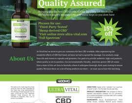 #60 para Create flyers/postcards for my CBD oil brand por hmasum738
