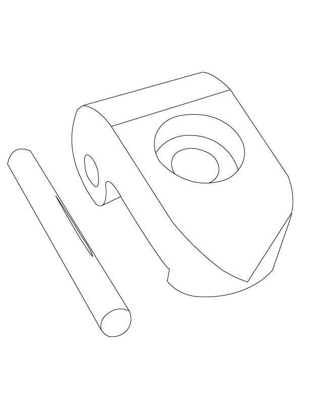 Contest Entry #5 for Lineart job needed for a simple object
