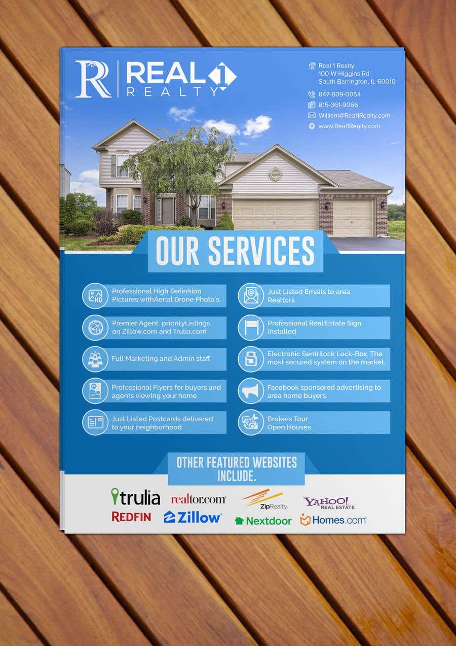 Bài tham dự cuộc thi #52 cho Custom one page Professional Brochure for Real Estate Company