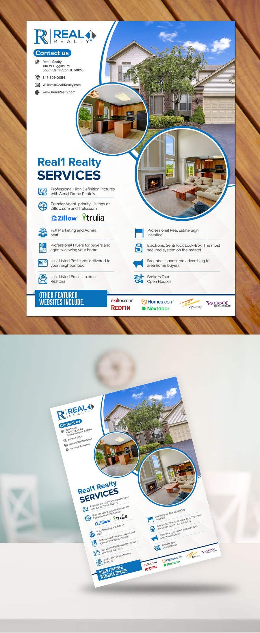 Bài tham dự cuộc thi #92 cho Custom one page Professional Brochure for Real Estate Company