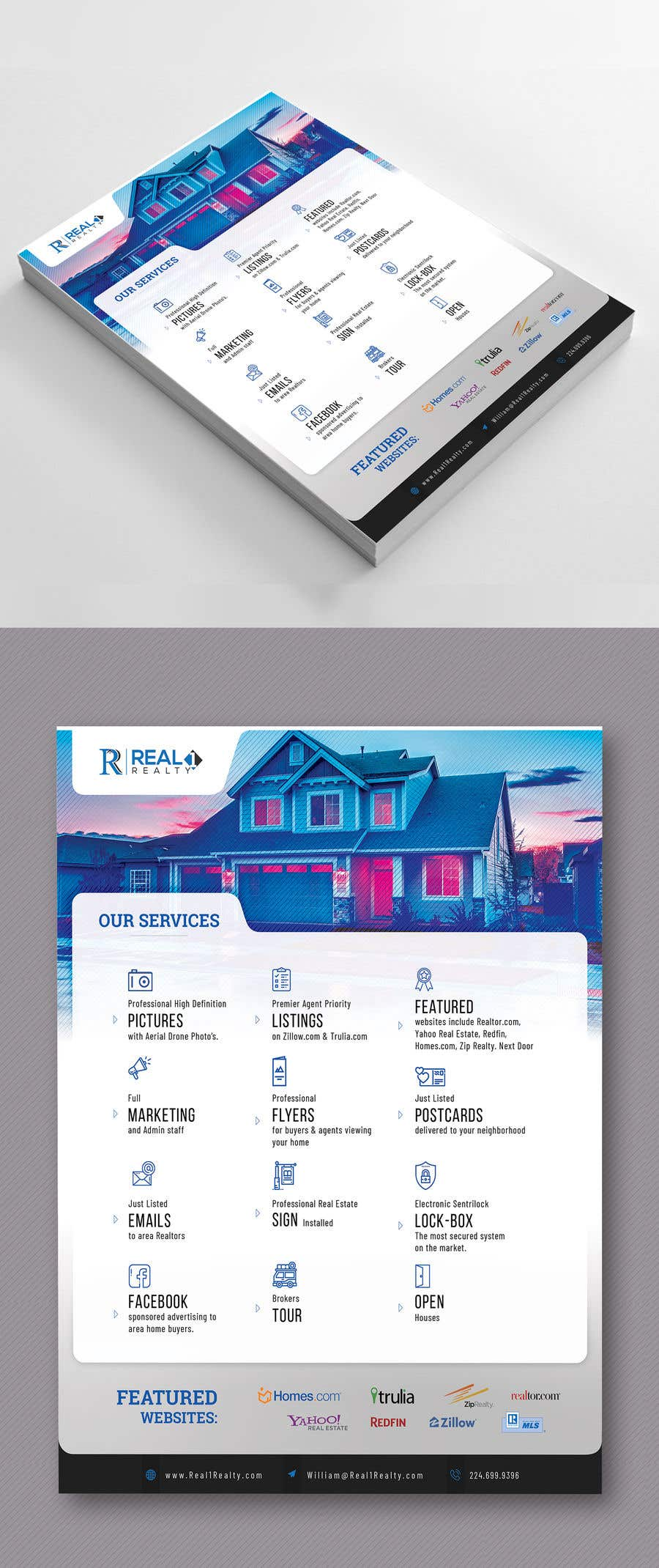 Bài tham dự cuộc thi #97 cho Custom one page Professional Brochure for Real Estate Company