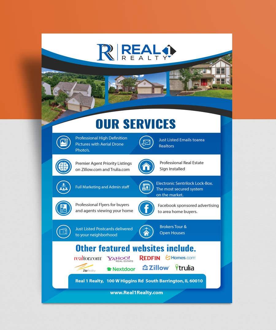 Bài tham dự cuộc thi #46 cho Custom one page Professional Brochure for Real Estate Company