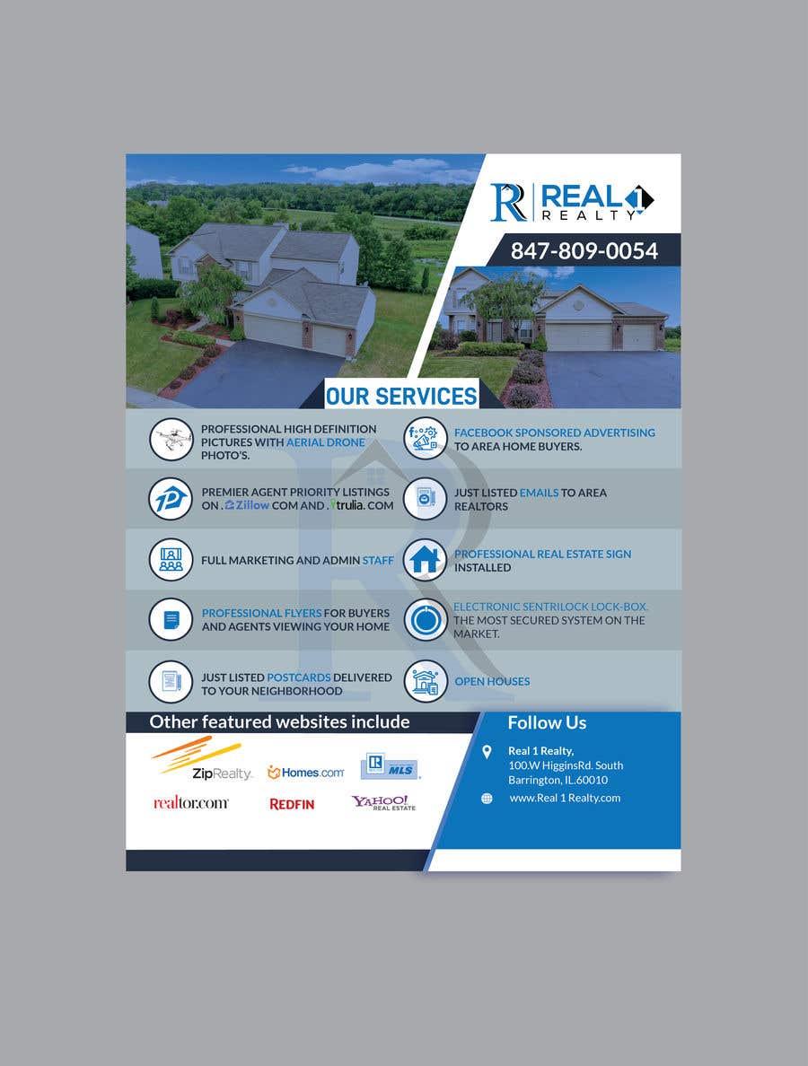 Bài tham dự cuộc thi #105 cho Custom one page Professional Brochure for Real Estate Company