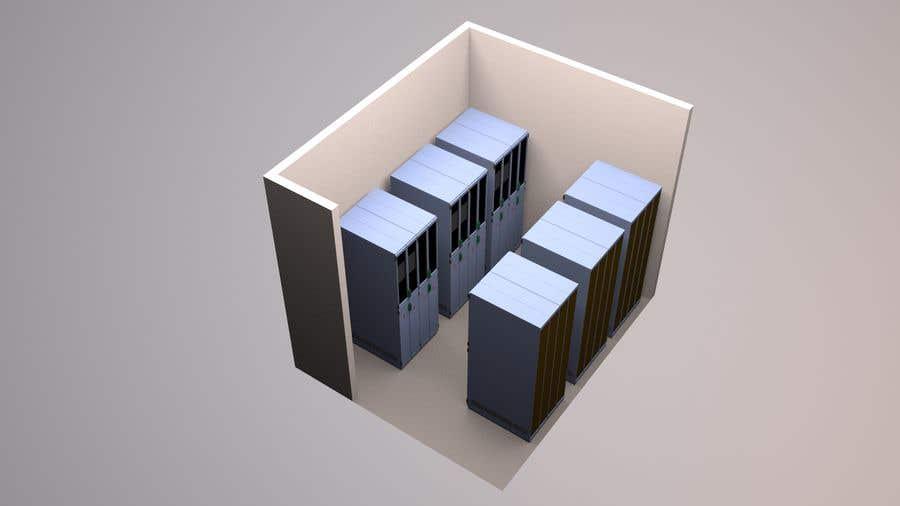 Penyertaan Peraduan #7 untuk Create a server room 3D floorplan