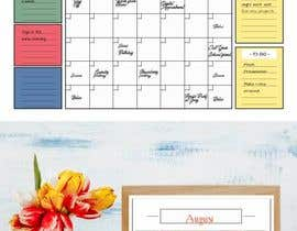 #56 untuk Design Calendar Section / Notes Section For a Home Dry Erase Whiteboard oleh SiddharthBakli