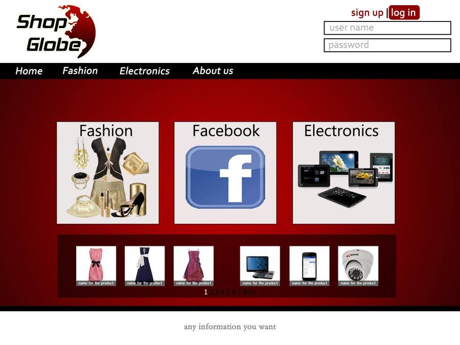 Inscrição nº                                         6                                      do Concurso para                                         Landigpagedesign for shop-globe.com