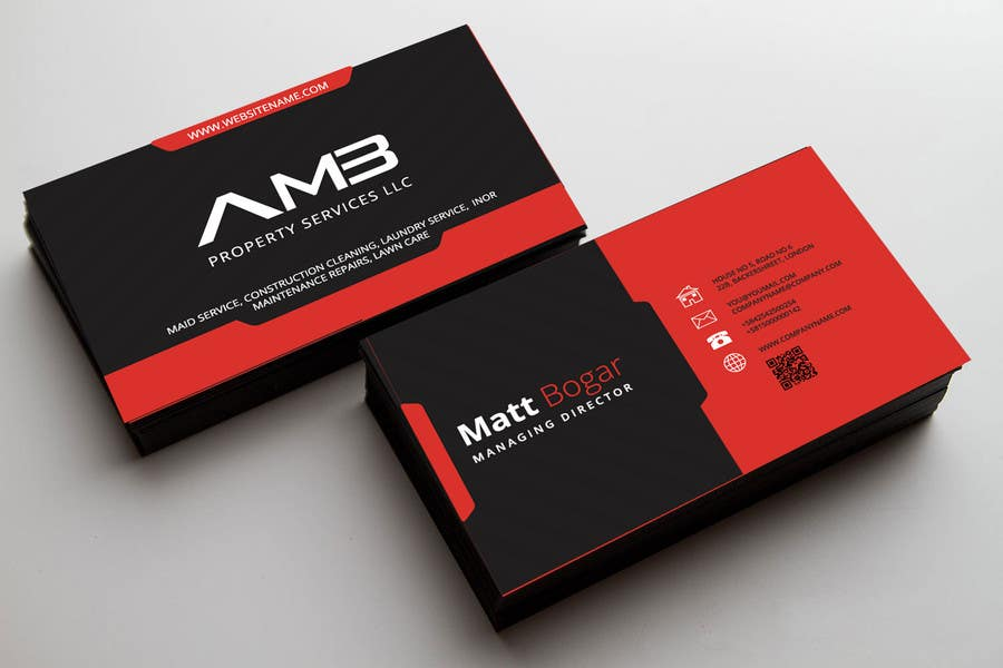Entry #18 by surjasen for Design some Business Cards for AMB ...