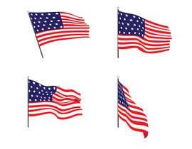 #56 untuk United State Of America flag oleh sajeebhasan177