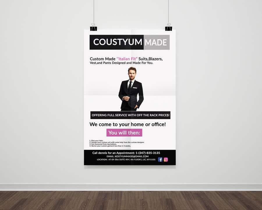 Penyertaan Peraduan #8 untuk Poster Design - Custom Suits