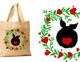 #207 untuk Rabbit Themed Hemp Shopper Bags oleh junthipamo