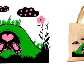 #212 untuk Rabbit Themed Hemp Shopper Bags oleh junthipamo