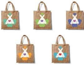 #174 untuk Rabbit Themed Hemp Shopper Bags oleh barbarakoncz