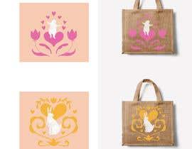 #228 untuk Rabbit Themed Hemp Shopper Bags oleh marisaochoa