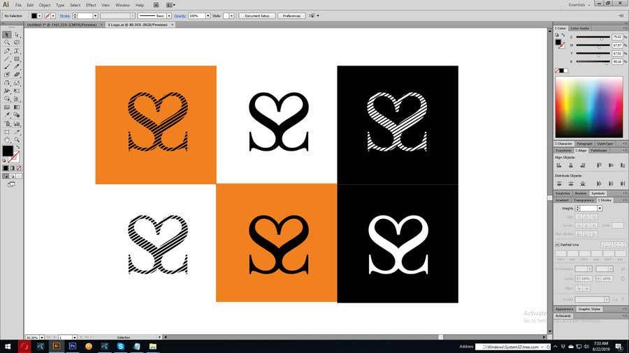 Kilpailutyö #6 kilpailussa Logo - 2 x letter S back to back to create Heart (Charity Organisation)