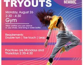 #26 cho Dance team tryout flyer bởi aditya123141