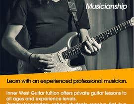 #24 cho Design a flyer for guitar tuition bởi StudioHinco