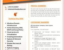 #21 para Redesign Resume / CV (Content Ready) - Only Design Template Needed por Jamrul7187