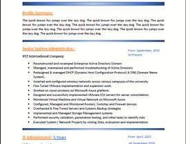 #26 para Redesign Resume / CV (Content Ready) - Only Design Template Needed por Jamrul7187