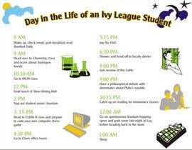 "#1 pentru Seeking beautiful infographic on ""Day in the life of an Ivy League student"" de către Desry"