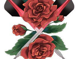 #19 cho Darts and Roses Tattoo Illustration bởi SapphireYing