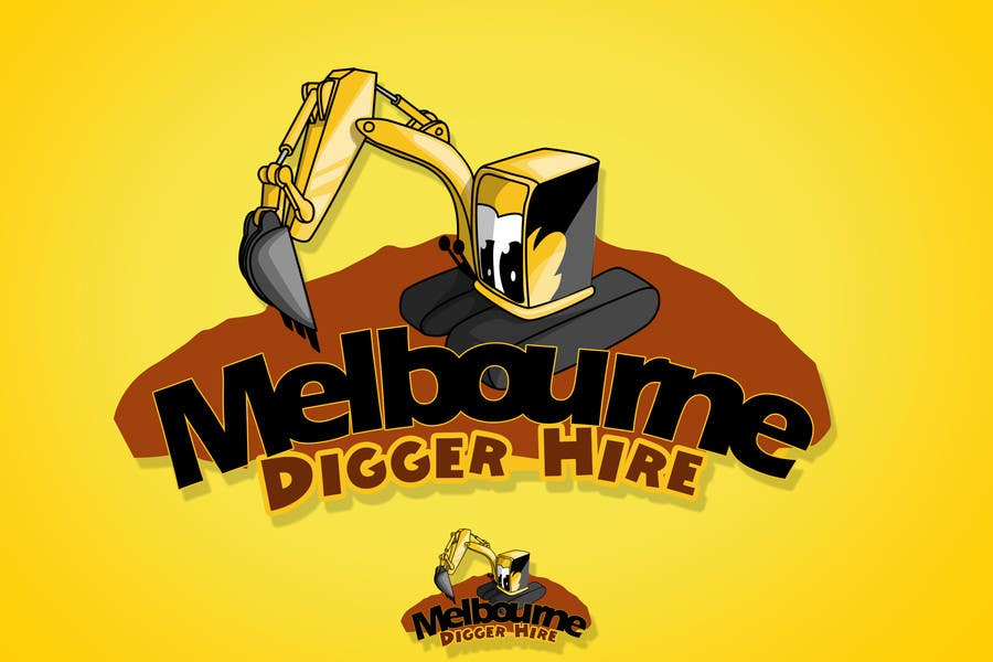 Penyertaan Peraduan #                                        9                                      untuk                                         Logo Design for an Excavator hire company