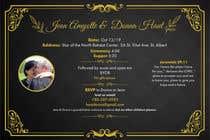 Bài tham dự #2 về Graphic Design cho cuộc thi wedding invites