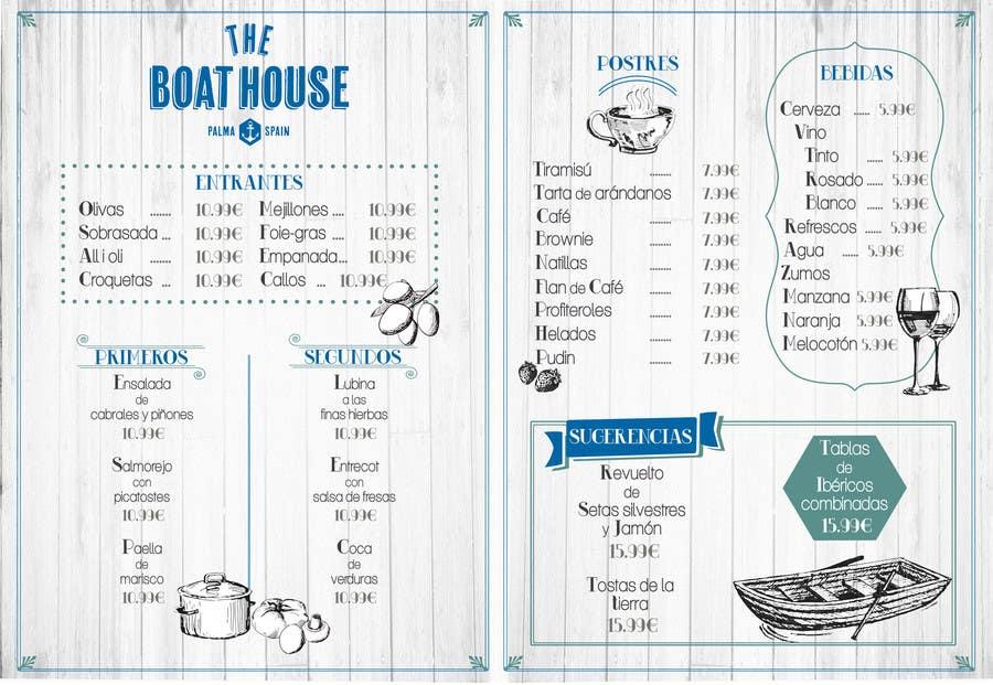 Penyertaan Peraduan #                                        8                                      untuk                                         I need some Graphic Design for the Boathouse Restaurant and Bar