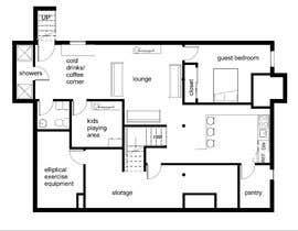 Nro 51 kilpailuun Design Floor plans for finished basement käyttäjältä nouralhusban