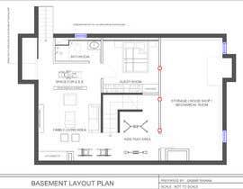 Nro 38 kilpailuun Design Floor plans for finished basement käyttäjältä interiorsknack