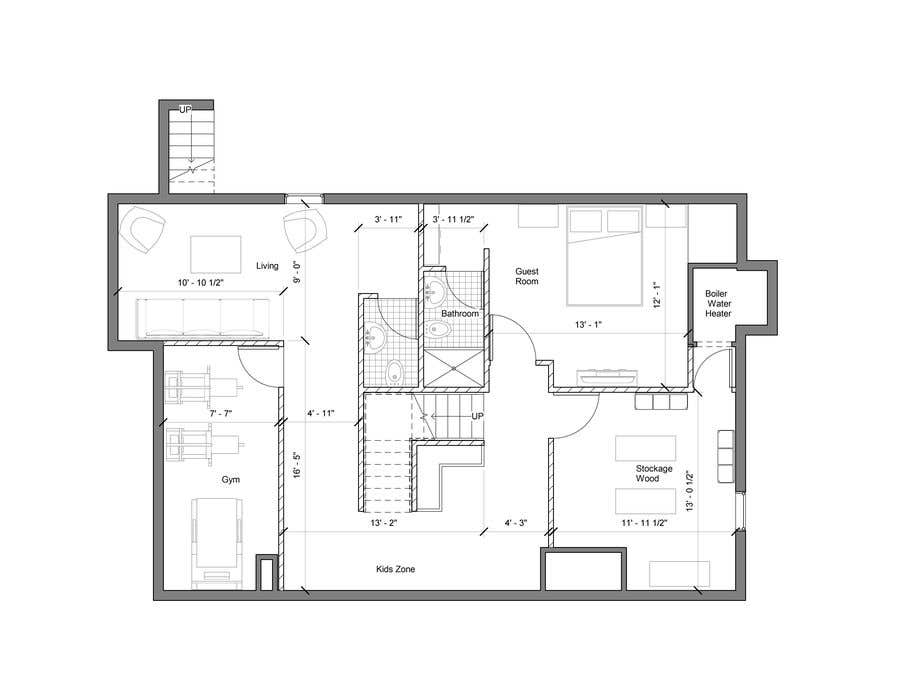 Entry 36 By Hakoarquitectos For Design Floor Plans For Finished Basement Freelancer