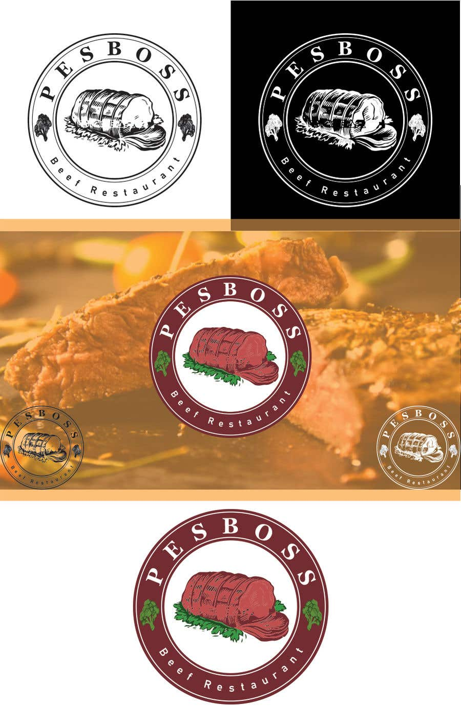 Entry 626 By Ahmedwaheed1997 For Beef Restaurant Logo Designs Freelancer