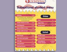 #8 untuk I need menu for 8.5 by 11  With my logo on top and it should say subsational student menu oleh Sophialee4