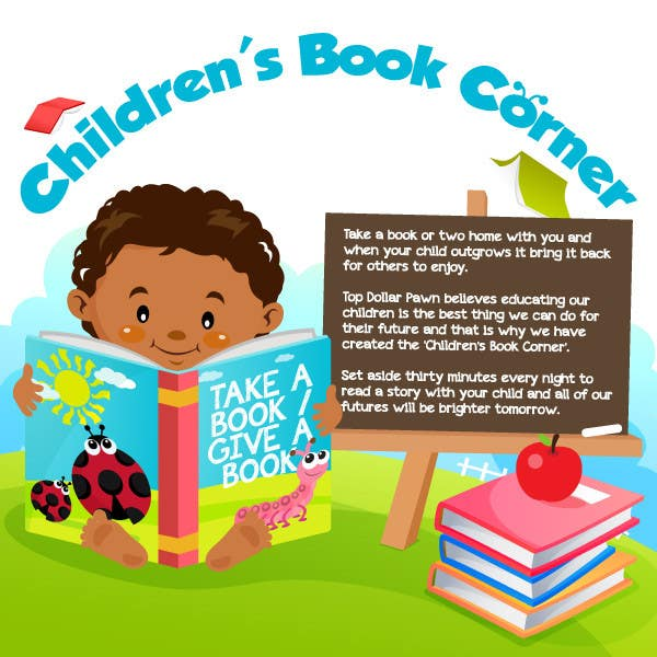 Contest Entry #                                        12                                      for                                         Illustration Design for The Children's Book Corner at Top Dollar Pawn