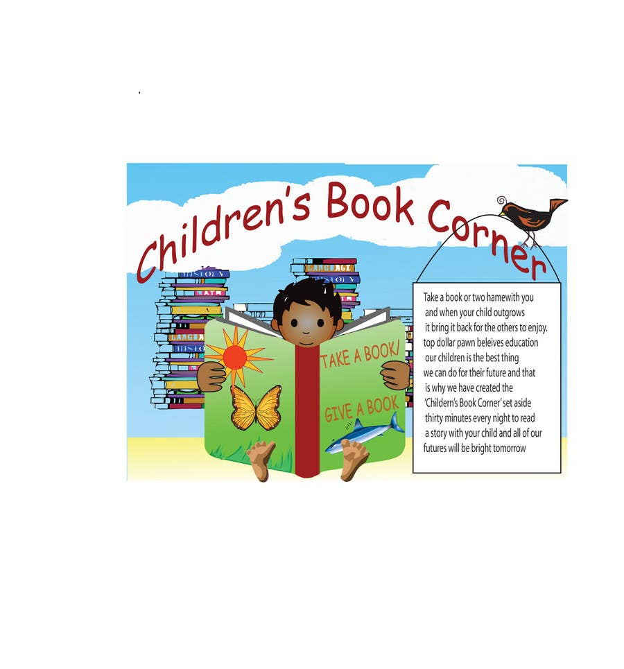 Entri Kontes #22 untukIllustration Design for The Children's Book Corner at Top Dollar Pawn