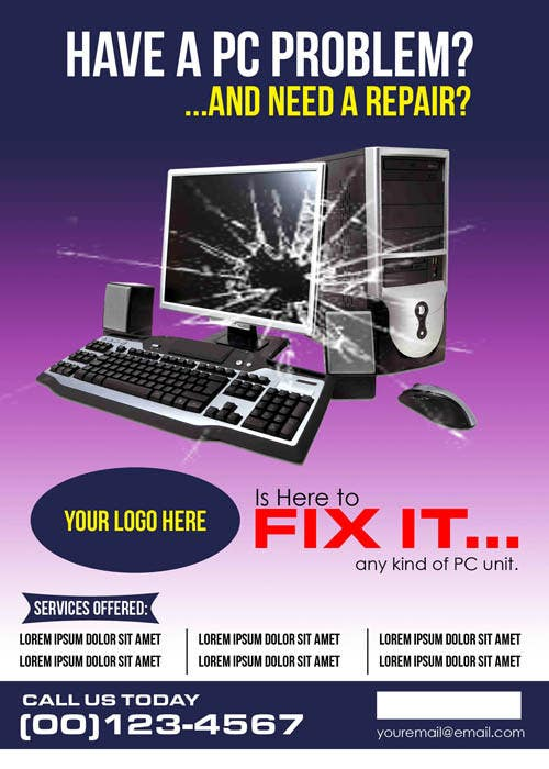 email pc repair flyer ads pike productoseb co