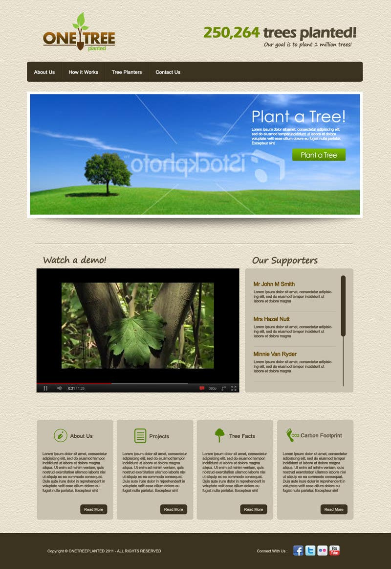 Contest Entry #162 for Website Design for 1 Tree Planted