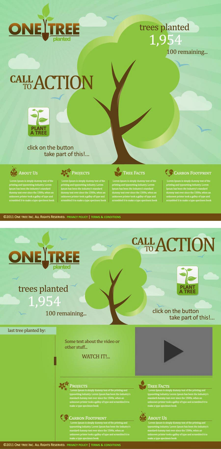 Contest Entry #118 for Website Design for 1 Tree Planted