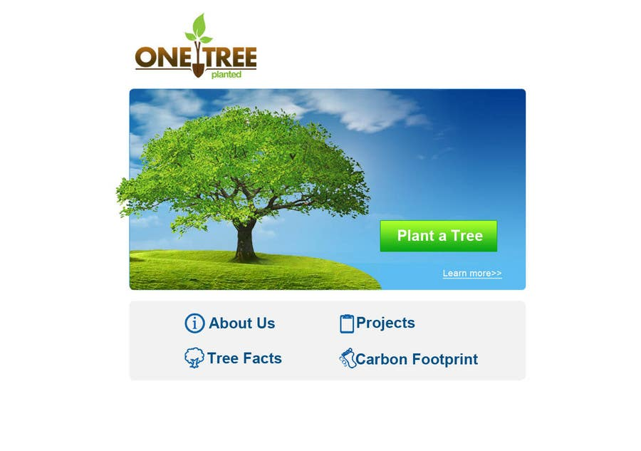 Contest Entry #160 for Website Design for 1 Tree Planted