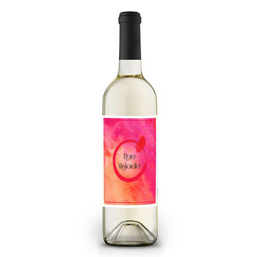 Proposition n°                                        18                                      du concours                                         wine bottle label design