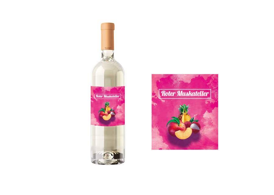 Proposition n°                                        4                                      du concours                                         wine bottle label design