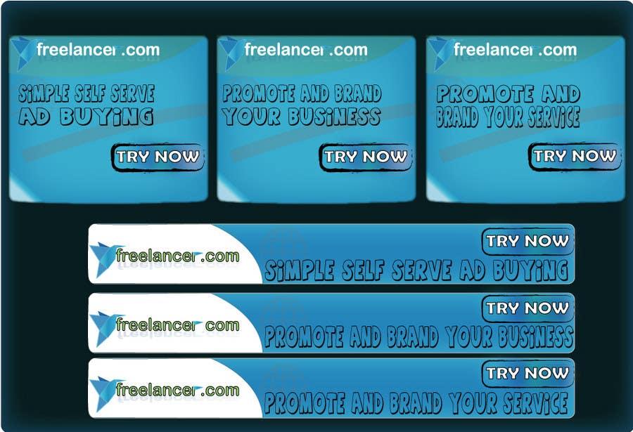 Kilpailutyö #                                        58                                      kilpailussa                                         Banner Ad Design for Freelancer.com
