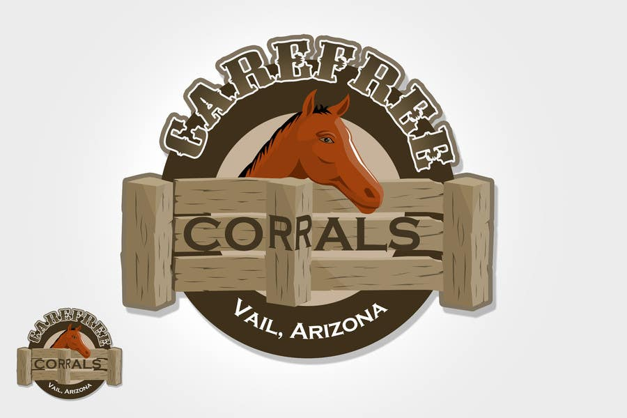 #5 for Logo Design for Carefree Corrals, a non-profit horse rescue. by rogeliobello