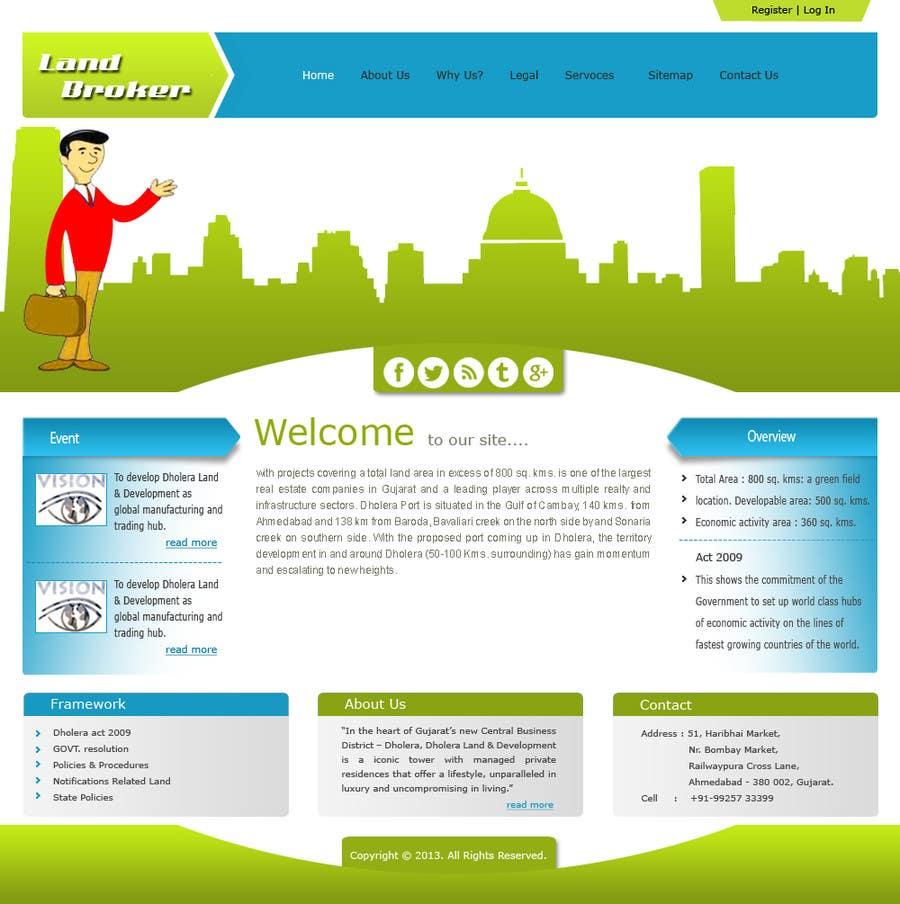 Proposition n°                                        1                                      du concours                                         Website Design for land broker