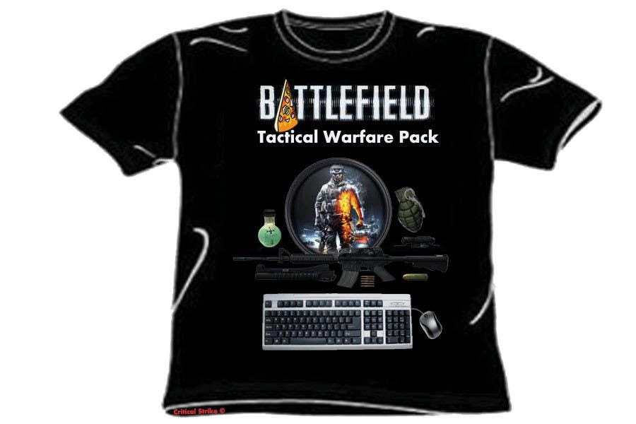 Proposition n°                                        2                                      du concours                                         Battlefield Tactical Warfare Pack [Gaming] T-shirt Design