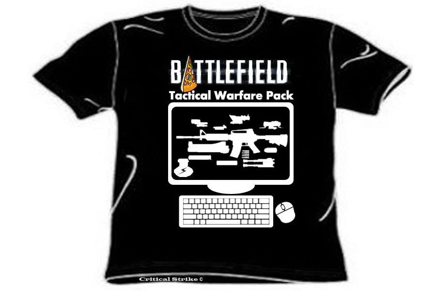 Contest Entry #6 for Battlefield Tactical Warfare Pack [Gaming] T-shirt Design